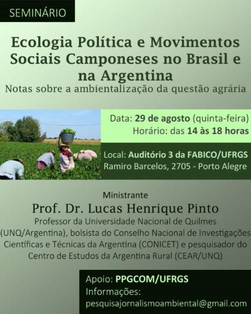 Seminário: Ecologia Política e Movimentos Sociais Camponeses no Brasil e na Argentina